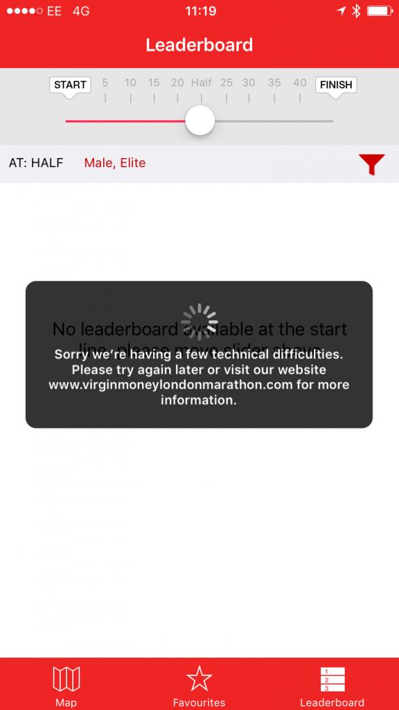 marathon app crash