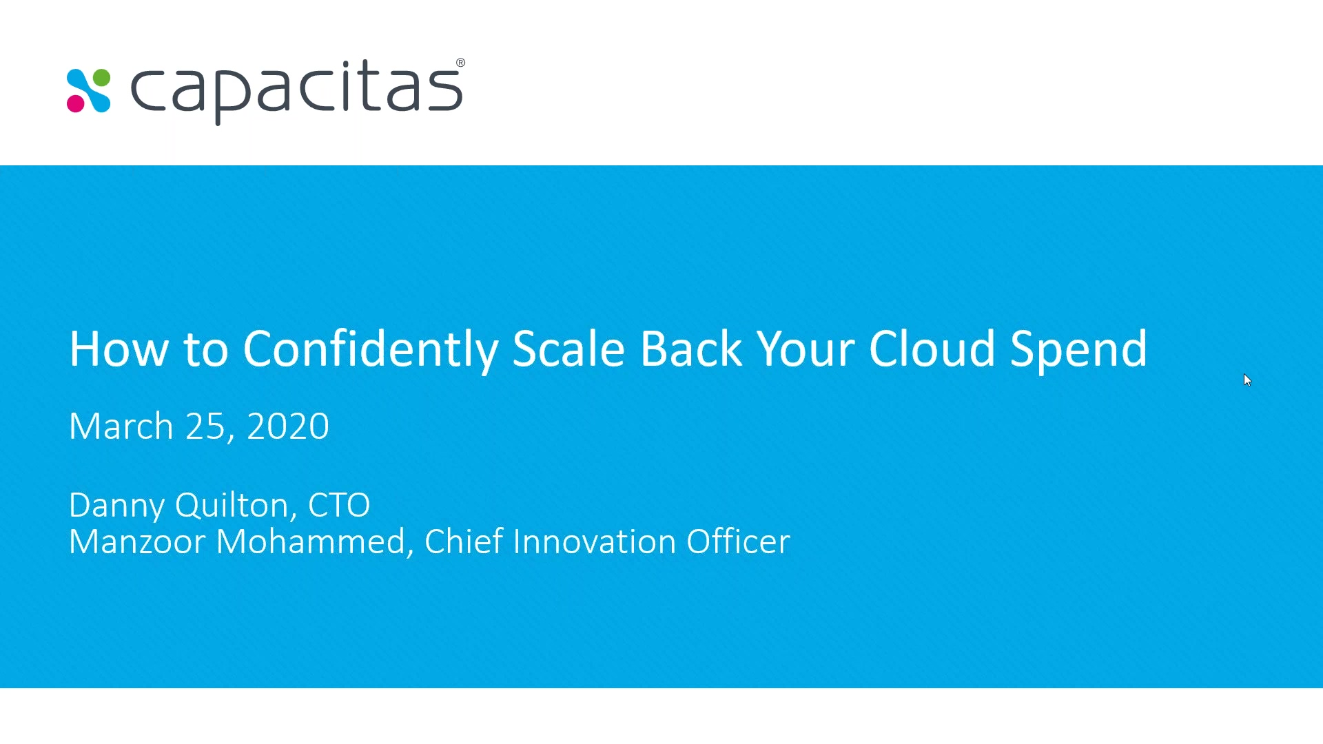 How to Confidently Scale Back Your Cloud Spend -thumb