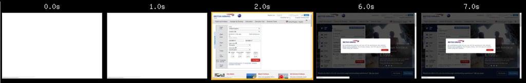 British Airways' website loading times